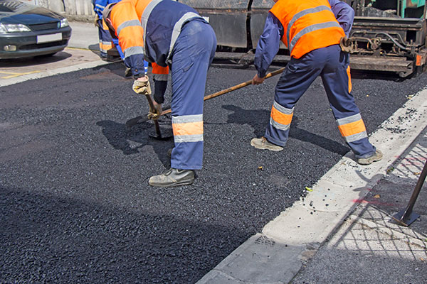 asphalt workers
